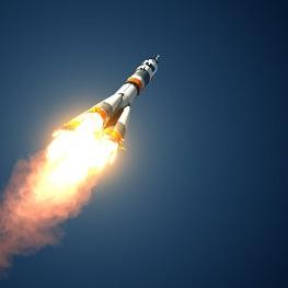sebuah roket - จรวด