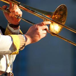 тромбон - eine Posaune