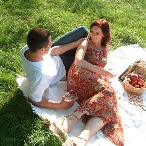 пікнік - ein Picknick