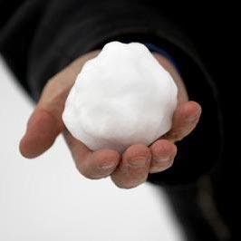 sebuah bola salju - en snøball