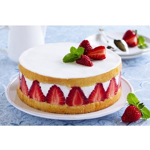 o prăjitură - केक