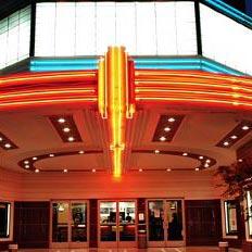a movie theater - кинотеатр