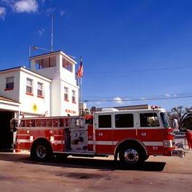 a fire station - สถานีดับเพลิง
