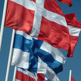 een vlag - знаме